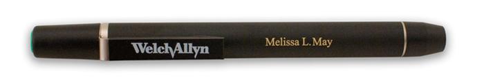 laser engrave welch allyn 76600 penlite light