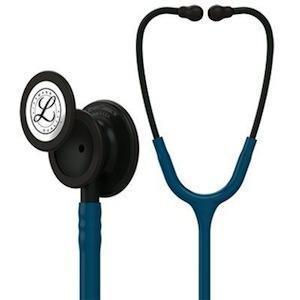 5869 3M™ Littmann® Classic III™ Stethoscope Black-Finish Chespiece Caribbean Blue Tube
