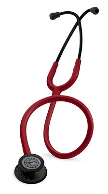 5868 3M™ Littmann® Classic III™ Stethoscope Black-Finish Chestpiece Burgundy Tube