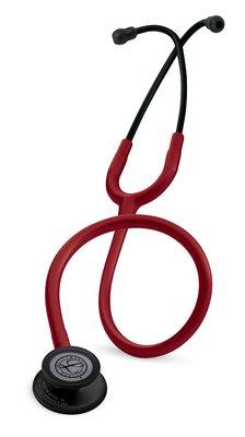 5868 3M™ Littmann® Classic III™ Stethoscope Black-Finish Chestpiece Burgundy Tube