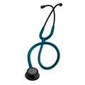 5869 3M™ Littmann® Classic III™ Stethoscope Black-Finish Chespiece Caribbean Blue Tube