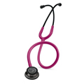 5871 3M™ Littmann® Classic III™ Stethoscope Smoke-Finish Chestpiece Raspberry Tube