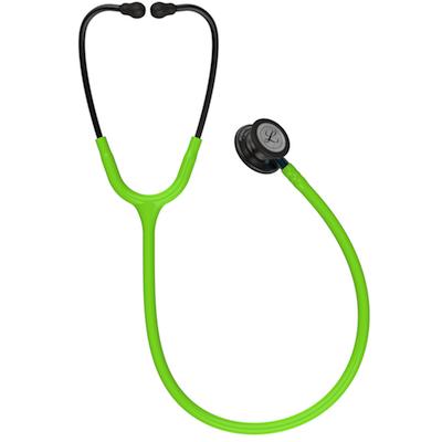 5875 3M™ Littmann® Classic III™ Stethoscope Smoke Chestpiece Lime Green Tube Blue Stem