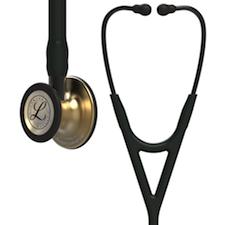 6164 3M Littmann Cardiology IV Diagnostic  Stethoscope Brass Black