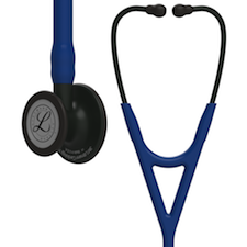 6168 3M Littmann Cardiology IV Diagnostic  Stethoscope Black/Navy Blue