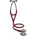 6176 3M™ Littmann® Cardiology IV™ Stethoscope Champagne Finish Burgundy Smoke