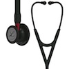 6200 3M Littmann Cardiology IV Diagnostic Stethoscope Black Red Stem