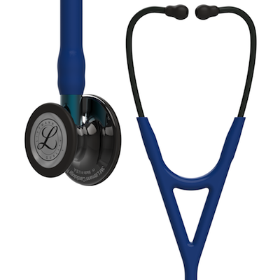 6202 3M™ Littmann® Cardiology IV™ Diagnostic Stethoscope Smoke Navy Blue Stem