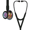 6240 3M™ Littmann® Cardiology IV™ Diagnostic Stethoscope High Polish Rainbow Black