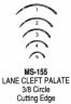 MS155-1 Miltex Cleft Palate Ndls 3/8 #1