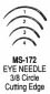 MS172-3 Miltex Eye Ndls 3/8 Cut #3