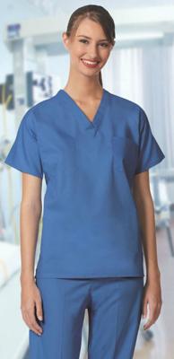 S96 Scrub Shirt Ciel Blue