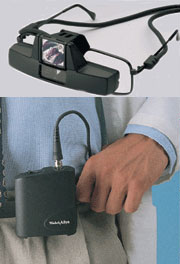 20500S Welch Allyn Spectacle Mount Lumiview with Portable Power