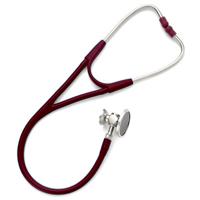 5079-326 Welch Allyn Harvey DLX Double Head Stethoscope Burgundy