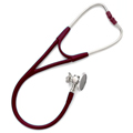 5079-326S Welch Allyn Harvey DLX Double Head Stethoscope Burgundy w/Free Ped Kit